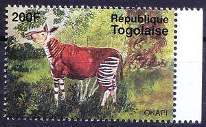Okapi, closely related to Giraffe, Wild Animals, Togo 1995 MNH