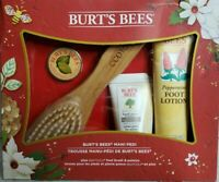 Burt's Bees Mani Pedi Holiday Gift Set Peppermint Foot Lotion Hand Cream