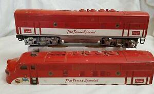 1955 LIONEL POST-WAR 2245 MKT TEXAS SPECIAL F3B DUMMY UNIT & F3A SHELL
