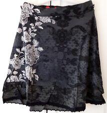 Nouveau Desigual Femme Jupe, SACHA, taille L, une ligne, Gris & Multi, Taille élastique