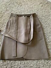 REED KRAKOFF 100% leather wrap around skirt sz 4 Uk 8