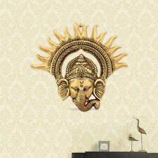 Handmade Golden Finish Metal Ganesha Sun Shaped Antique Us