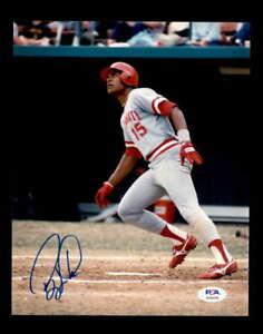 Barry Larkin PSA DNA Coa Hand Signed 8x10 Photo Autograph