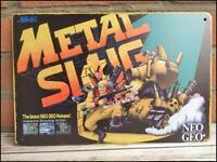 METAL SLUG RARE Metal Wall Tin Sign Arcade Flyer Game Poster snk neo geo neogeo