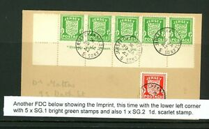 Jersey 1942 Occupation Cover with 1/2d Arms Imprint Strip    (O466)