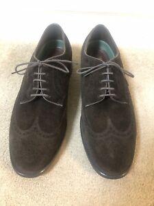 Suede Florsheim Imperial Oxford Brogue Shoes US 10.5 eee - UK 9.5 G - Dark Brown