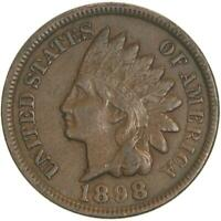 1898 Indian Head Cent Very Fine Penny VF