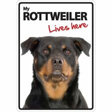 Rottweiler Lives Here A5 Plastic Sign