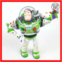 Disney Buzz Lightyear Toy Story Action Figure Talking Light Up Poseable Pixar C5