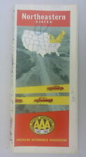 1952 Northeastern United States road  map AAA  oil  gas