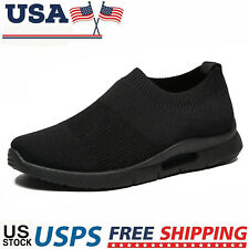 Men's Tennis Sneakers Casual Breathable Lightweight Slip-on Running Shoes Gym US