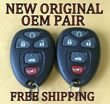 NEW PAIR 100% OEM GM CHEVY BUICK PONTIAC KEYLESS REMOTE START ENTRY FOB 22733524