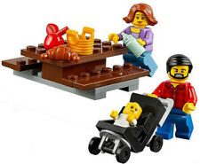 LEGO MOM DAD BABY/STROLLER from 60134 Fun at the Park picnic minifigure minifig