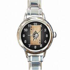 Ace of Spades Poker Black Jack Las Vegas Gambler Womens Bracelet Watch