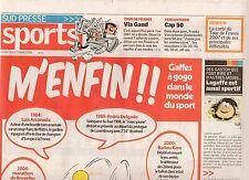 GASTON ET FRANQUIN ILLUSTRENTLE SUPPLEMENT SPORTS  DU JOURNAL LA GAZETTE 2006