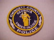 GWINNETT COUNTY GEORGIA  POLICE  PATCH 3 X 3 INCH