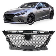 ABS Honeycomb Style Front Hood Grille Grill Guard For Mazda 3 Axela 2014-2016 15