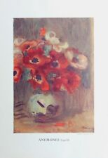 Pierre Auguste Renoir Heliogravure Limited Anemones 1921