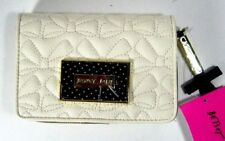 Betsey Johnson QUILTED Cream/Black Bifold Wallet BR22900