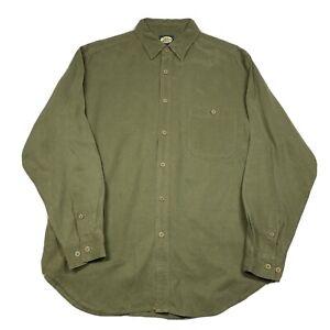 Vintage Tommy Bahama Mens Medium Green Hidden Button Down Long Sleeve