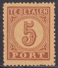 P1 Portzegel Groot waardecijfer 5 ct 1870 postfris (MNH)
