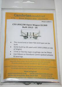 CAMBRIAN C33 LBSC SR D1369 5 PLANK OPEN WAGON   NEW OO GAUGE