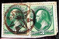US #158 w/ Fancy NY Foreign Mail 8-Pt STAR Cancel ~ Weiss #ST-8P11 & Cole NYFM-1