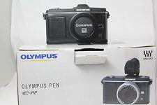 Cámara SLR Olympus E-P2 Pluma Digital Cuerpo. en Caja Excelente. Gratis Reino Unido del envío