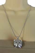 Women Silver Metal Chains Japaness Fashion Long Necklace Pigy Face Pig Pendant