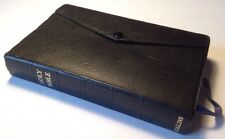 Holy Bible, King James Version, Collins, Button Flap Cover, Ruby Text, 1958