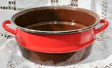 "Le Creuset New Cerise Red Large  Bain Marie 9.5 "" diameter Boxed"