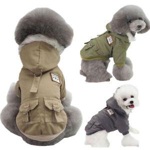 Winter Pet Dog Clothes Warm Fleece Hooded Coat Jacket Puppy Apparel Outerwear