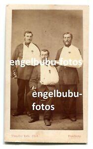 """PORTRAIT-FOTO - CDV- 1866 """"Königgrätz"""" - Abzeichen - Verletzte - Ostpreussen TOP"""