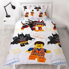 LEGO MOVIE 2 AWESOME SINGLE DUVET COVER SET SUPER SOFT - 2 IN 1 DESIGN