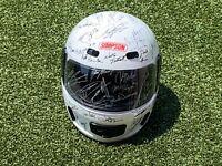 Autographed Indianapolis 500 & Indycar Legends Helmet (White)