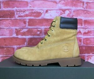 """TIMBERLAND WOMEN'S RHINEBECK 6"""" DOUBLE COLLAR BOOTS WHEAT SUEDE A1TXQ SIZES"""