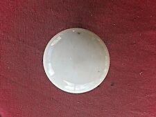 Ancienne poignée de porte ronde en porcelaine blanche-base en laiton-XIX è
