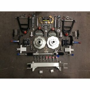 """Universal 58.5"""" Track CornerKiller IFS Coilover Stock Spindle 5x4.75 Manual Rack"""