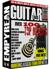 The ULTIMATE Rock & Metal Guitar Tabs CD-R Digital Lessons Software Windows Mac