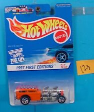 C123 HOT WHEELS 1997 FIRST EDITIONS WAY TO FAST #514 ORANGE CHECKER NEW ON CARD