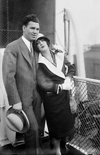 "Jack Dempsey and Wife Vintage Photograph - 11"" x 17"" Reproduction"