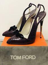 Tom Ford Genuine Crocodile Purple Heels NWOT