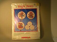 "hum41 DIMENSIONS ""jingle bears"" COUNTED CROSS STITCH CHRISMAS ORNAMENTS KIT"