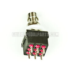 3PDT True Bypass Stomp Foot Switch with PCB Pins - BEST QUALITY!