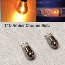 T10 Wedge 194 2825 168 12961 Chrome Bulb Amber Parking Light W1 For Kia BMW JAE