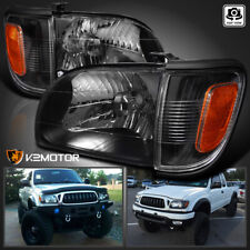 For 2001-2004 Toyota Tacoma Black Headlights+Signal Corner Parking Lamps Lights