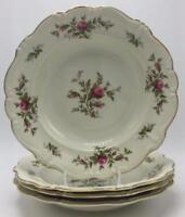 Antoinette (Pompadour Shape) Rosenthal - Continental Moss Roses 4 Rim Soup Bowls