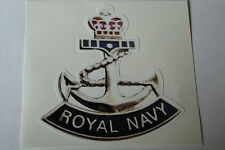 "2 X   ROYAL NAVY  STICKERS  4"" BRITISH ARMY USA  MILITARY INSIGNIA"