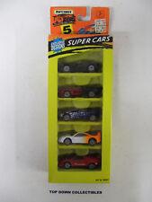 Matchbox  Set Of 5   Super Cars  Action System   1:64 New Unopened