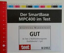 Aufkleber/Sticker: Der SmartBase MPC400 im Test - Stiftung Warentest (250516134)